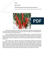 Guidelines Fertilizer Recomendation Chili in Indonesia