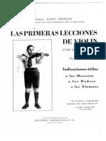 Tonini,Aldo - Las Primeras Lecciones de Violin Con 50 Ejercicios