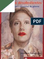 Josefina Fernandez Cuerpos Desobedientes Travestismo e Identidad de Genero 2004 Argentina