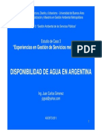 2.Disponibilidad de Agua en Argentina J.C.gimeNEZ