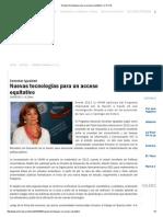 Nuevas tecnologías para un acceso equitativo _ U.N.V.M