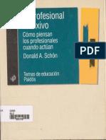 Schon,D.(1998) El Profesional Reflexivo
