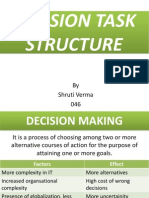 Decision Task Structure