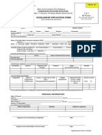 Master and PhD Local Scholarship Application Form