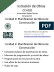 Unidad II - Planificación de Obras de Construcción