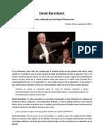 Daniel Barenboim. Entrevista
