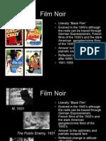 SP 471 American Film History Week 7 - Film Noir