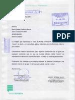 Carta de respuesta del grupo EPENSA y del diario El Bocón