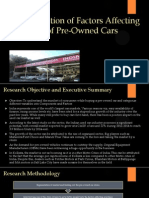 Determination of Factors Affecting Purchase of Pre-Owned Cars