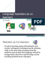 Language Teachers as Co Learners