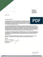 michael levy letter