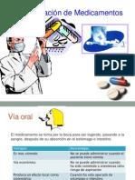 Vías de administración de los medicamentos