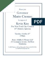 Invite MarioCuomo KevinKim