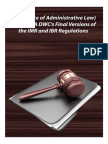 OAL (Office of Administrative Law) Nod for CA DWC's Final Versions of the IMR and IBR Regulations