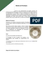 Modelo de Prototipos - Informacion