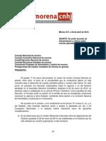 MORENA - Acuerdo Sobre Normas Vigentes CNHJ