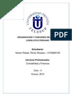 Organizacion y Funciones Del Poder Legislativo Peruano