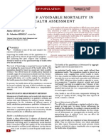The role of avoidable mortality in health assessment