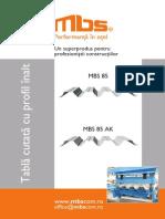 Tabla Cutata Cu Profil Inalt MBS 85