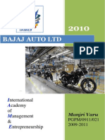 COMPANY PROFILE 2010 Bajaj Auto Limited Report