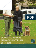 Glen Eira Domestic Animal Management plan  2013-2016