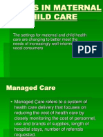 Trends in Maternal and Child Care