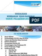 Sosialisasi Kebijakan UN 2014-Singkat-BSNP10 Maret 2014 Baru