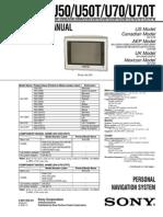 Sony Personal Navigation NV-U50 Sm