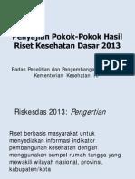 Pokok2 Laporan Nasional Riskesdas 2013