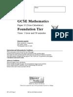 MrJacksonMaths Foundation Non Calculator Paper J