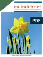 Gemeindebrief 2014 04 Ostern - 13. Ausgabe