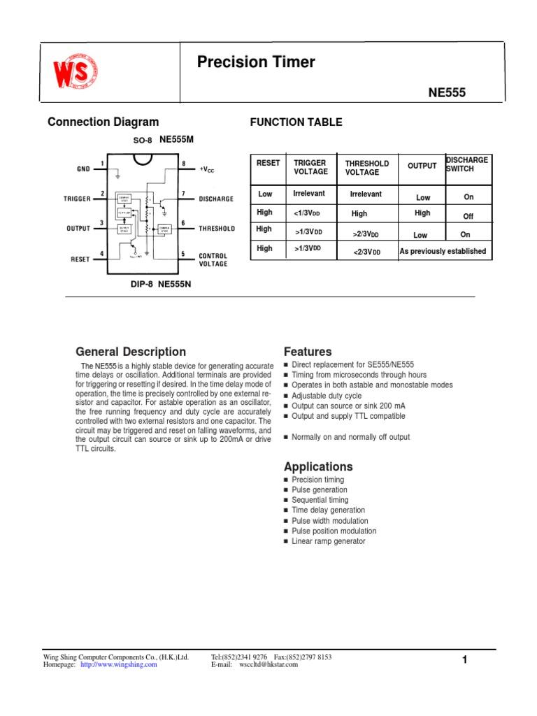Ne555 1 Electrical Engineering Electricity 555 Timer Ramp Generator