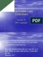 Lecture 27 PLC Languages