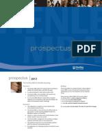 2013 MBA Prospectus