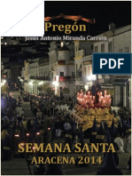 Pregón Semana Santa Aracena 2014