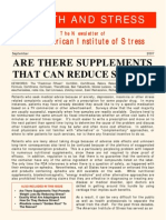 Are There Supplements That Can Reduce Stress