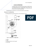 A Course on Centrifugal Pumps