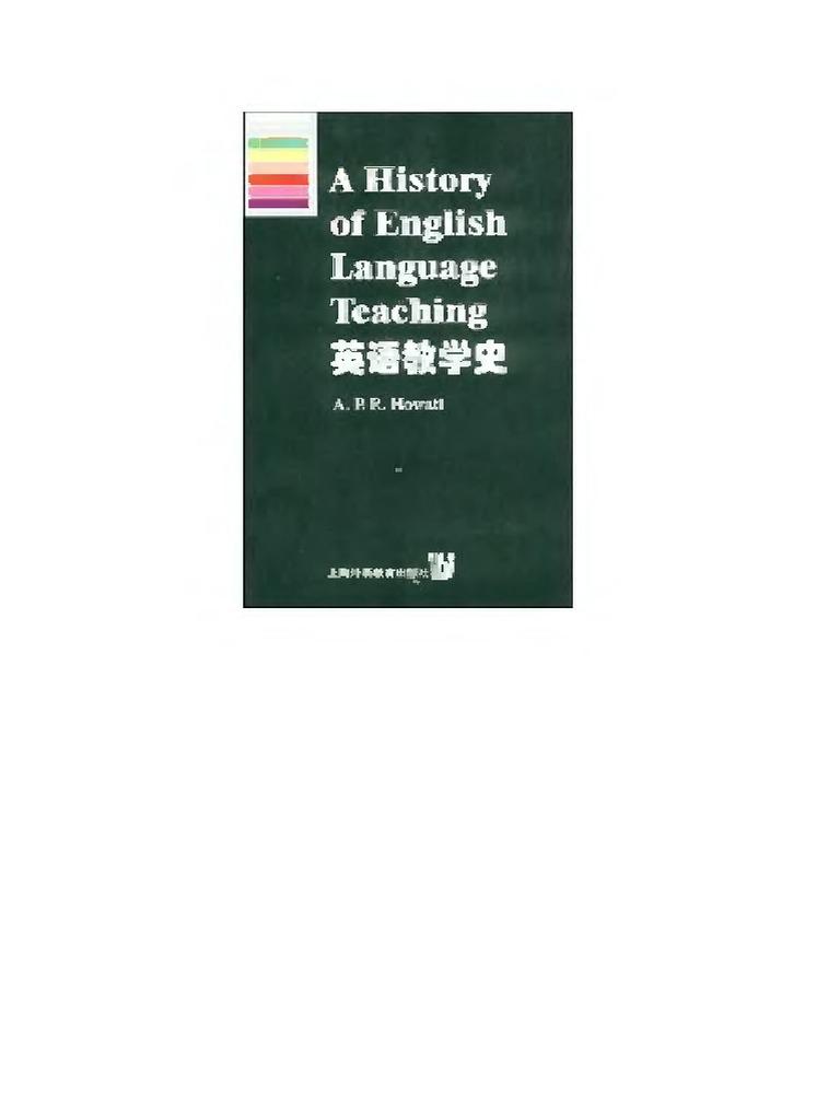 a history of english language teaching howatt pdf free download