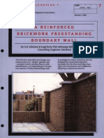 A Reinforced Brickwork Freestanding Boundary Wall 0188