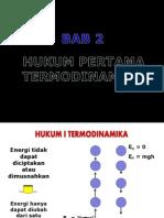 Bab II 1 Hukum i Termodinamika