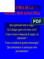 Clase012006 Historia Transfusion