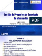 Sesion III - Project Scope Management