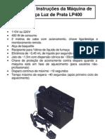 Manual Máquina de Fumaça LP400 - Luz de Prata