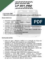 Manual do Acionador DMX para LP801 - Luz de Prata