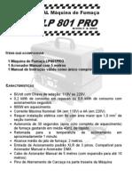 Manual da Máquina de Fumaça LP801 DMX - Luz de Prata