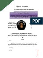 Critical Appraisal Anis,Bita,Neno