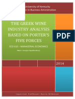 Porter's Five Forces on Greek Wine Industry