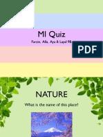 MI Quiz