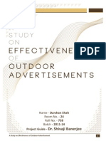 Effectiveness of Outdoor Advertisements