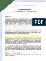 Le développement durable Projets et recompositions par les échelles territoriales